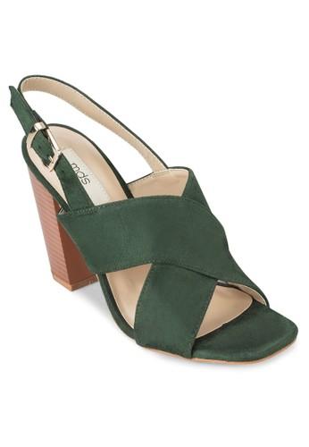 Vincente 交叉繞踝粗跟鞋,esprit hk 韓系時尚, 梳妝