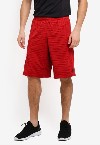 Reebok red Les Mills Mesh Basketball Shorts RE691AA0SVXPMY_1