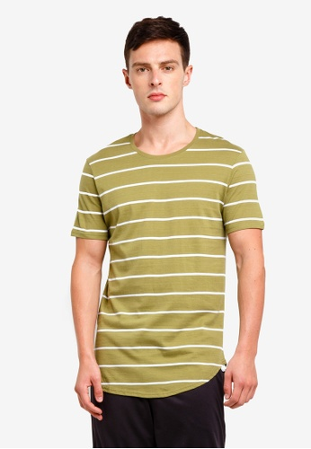 Factorie 多色 Curved Stripe T Shirt 28752AA3425CB0GS_1