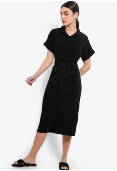 9d9007bbc86 8% OFF ZALORA Midi Shirt Dress S  39.90 NOW S  36.90 Sizes XS S M L XL