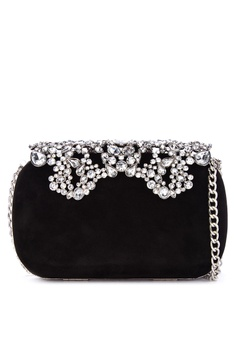 5a27ca528cf Dune London black Estella Embellished Minaudiere Clutch F1D42ACD2C038FGS_1