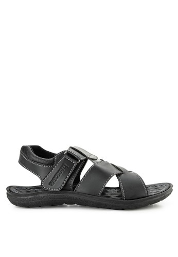 51be23a6d5e0 Watchout! Shoes black Strap Sandal 09295SH2B6D927GS 1