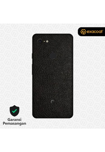 Exacoat Google Pixel 3 Xl 3M Skins Leather Series - Leather Black 2BE0FES93A8714GS_1