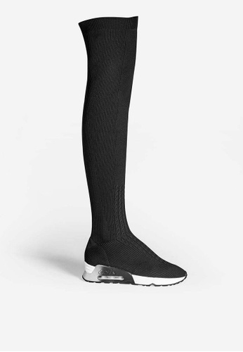 ASH black Lola - Black Knit Over-the-knee High Boots 4AD56SHDF21C3FGS_1