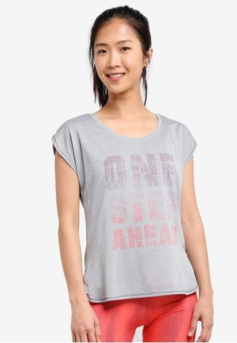 Odlo grey Helle Short Sleeve T-Shirt OD608AA0S13HMY_1