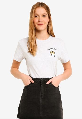 Miss Selfridge pink Babes Who Brunch Slogan T-Shirt E25CEAAD2AFCE5GS_1