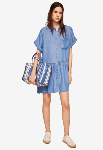 Mango blue Denim Shirt Dress D1298AA0774B71GS_1