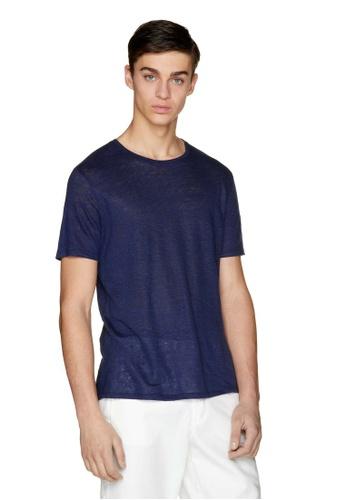 United Colors of Benetton 藍色 素色T恤 86DE6AA3D00210GS_1