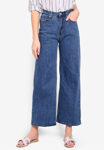 Cotton On blue High Rise Wide Leg Jeans 19B35AAC47EB4AGS_1