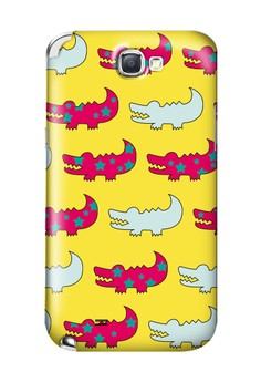 Gator Pink and Yellow Hard Case for Samsung Galaxy Note 2