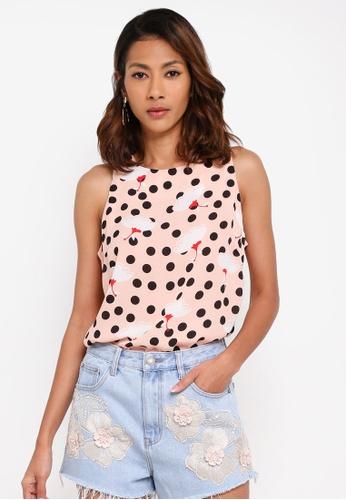 Glamorous pink Sleeveless Top 363BBAAF4057FCGS_1