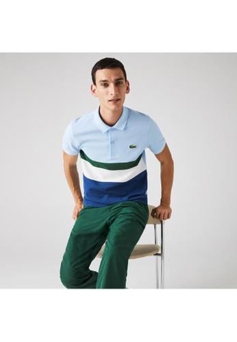 Lacoste blue Men's Lacoste Regular Fit Colourblock Cotton Piqué Polo Shirt DB6C4AA9672892GS_1