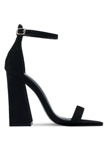 Something Borrowed black Ankle Strap Block Heels 8E2DFSH2915201GS_1