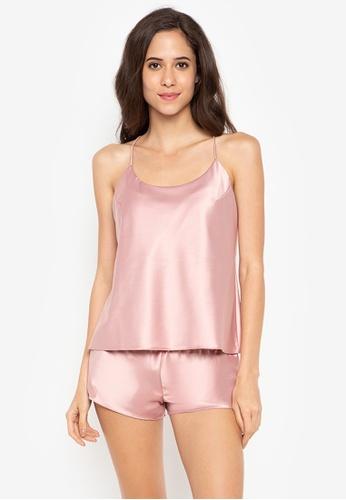 moondaze pink Lauren Teddy Sleepwear Set 4E623AAF8B20B2GS_1