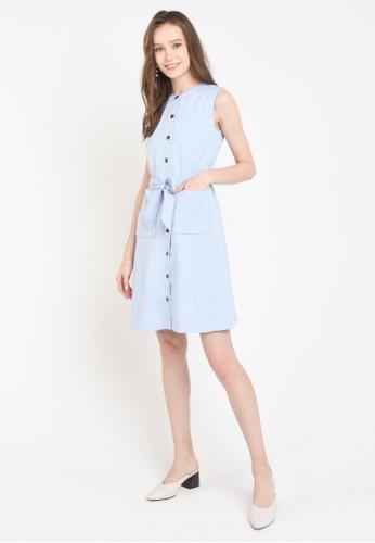 L'zzie blue LZZIE VANDAS DRESS - LIGHT BLUE 8246BAAB4CD78DGS_1