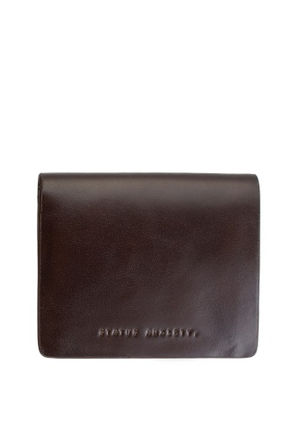 8b470ed01e Status Anxiety Nathaniel Wallet - Chocolate