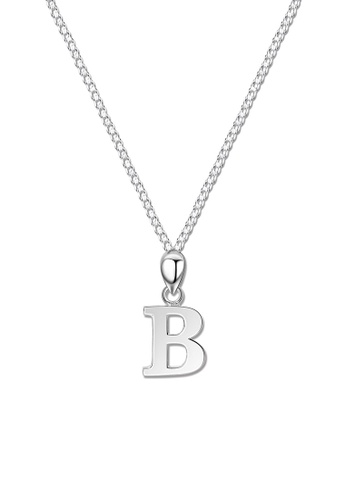 SC Tom Silver silver Letter Pendant with Chain SC872AC0J6H3PH_1