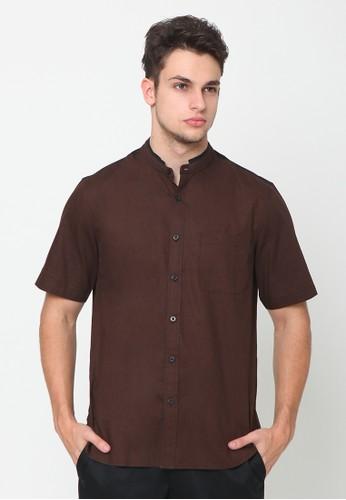 A & D brown Ms 1206 Men Short sleeve FE537AA38CF3E6GS_1