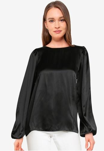 Vero Moda black Maddie Long Sleeve Top 41B45AAEB59A75GS_1