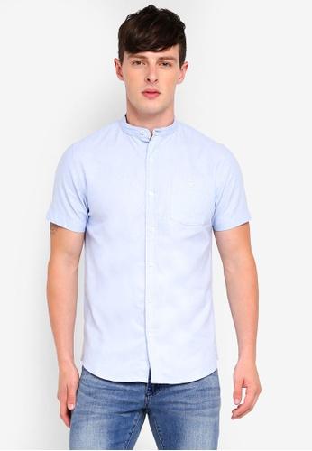 Brave Soul 藍色 中山領短袖襯衫 00252AA434E7A2GS_1