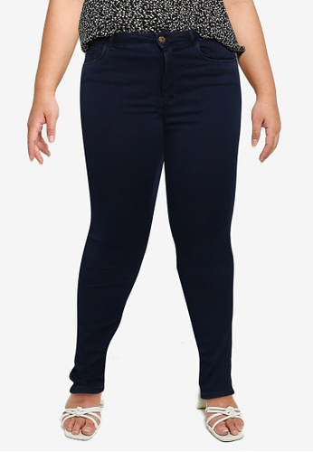 Only CARMAKOMA navy Plus Size Augusta Skinny Jeans 4C0E7AAACA98E3GS_1