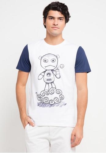 3SECOND white and multi 3Sco Men Tshirt 8711 3S395AA0VB4VID_1