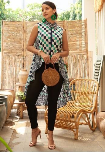 Rinjanie Avon multi Rinjanie Avon - Blouse Waka Waka Shirt Asymmetric batik Mix Square Pattern 2CE3BAA14CE9E5GS_1