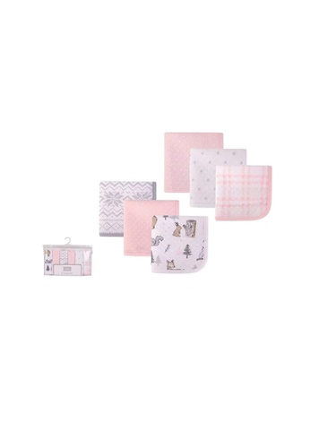 Little Kooma pink Hudson Baby 6Pc Quilted WashCloths 01068CH Winter Forest 23EDFKCBB2C455GS_1