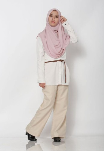 Buy Buddeey.co Cream Wide-Leg Pants Online | ZALORA Malaysia