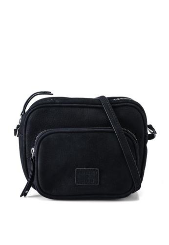 SUPERDRY black Large Leather Delwen Crossbody Bag CFEA2ACC076261GS_1