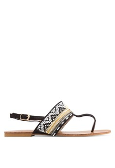 PLAY! Elida Aztec 串珠條紋涼鞋