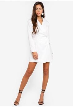 be8f044e22 45% OFF MISSGUIDED Petite Asymmetric Blazer Dress S$ 74.90 NOW S$ 40.90  Sizes 6 8 10 12