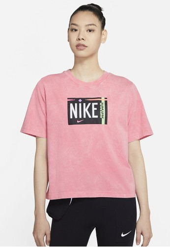 Nike red Women's Sportswear Washed Tee 347BCAAC2D493AGS_1