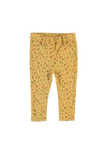 LC Waikiki yellow Baby Girl Patterned Poplin Pants F1801KA5C53383GS_1