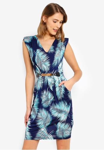ebc3158cae6 Buy Mela London Palm Leaf Belted Dress Online on ZALORA Singapore