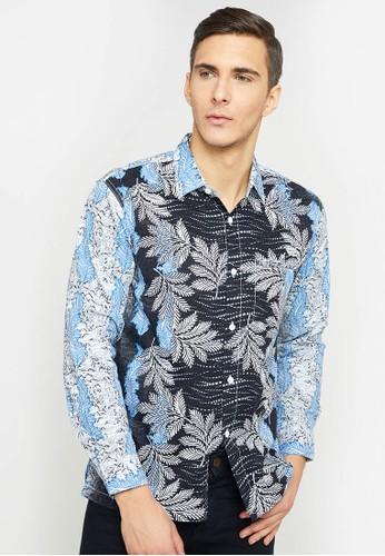 Woffi blue Dibaya Batik Shirt C28FDAA914187CGS_1