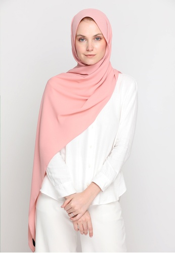 VELRIA pink DOLLY Chiffon Shawl in Pink Icing 5AF6EAA162AC73GS_1