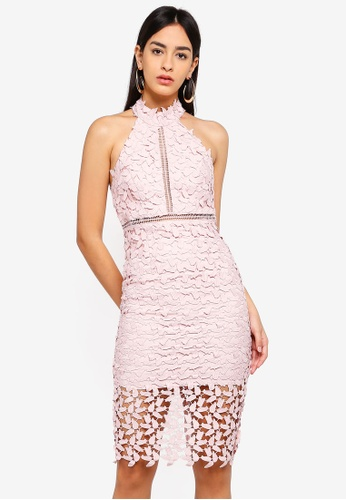 Bardot pink Gemma Dress F50A7AA9AE11F6GS_1