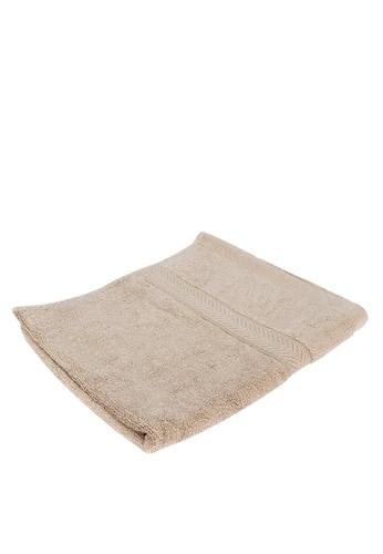 Linen & Homes beige 100% Bamboo Hand Towel Tan 1E984HL62A9B0DGS_1