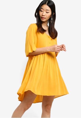 Something Borrowed yellow Relaxed Babydoll Dress 998C7AA85E5F0FGS_1