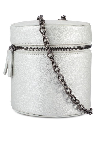 Something Borrowed silver Cylinder Chain Bag 2BF9AACCD7B385GS_1
