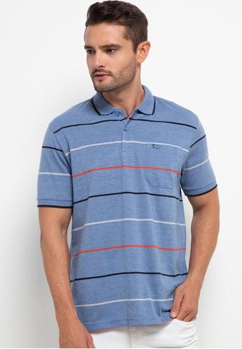 WALRUS blue Polo Stripe 32472AA0AA3347GS_1