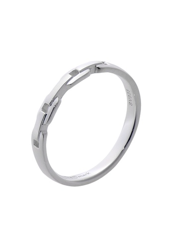 The LoveMark silver Slim Belt Ring for Men lr0005m TH516AC38VFXPH_1