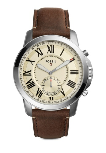 Fossil brown Fossil Q Grant Brown Leather Watch FO164AC83ZSEMY_1