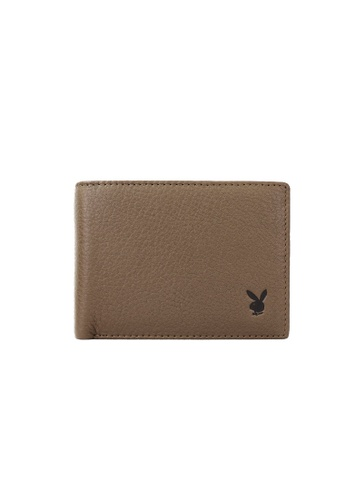 Playboy brown Faux Leather Rfid Blocking Wallet 318E6AC35F57EEGS_1