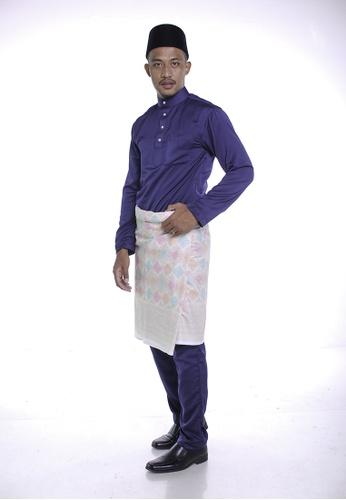 Khalifah by N blue Baju Melayu Cekak Musang 1.0 Slim Navy 862EFAACDAC3DFGS_1