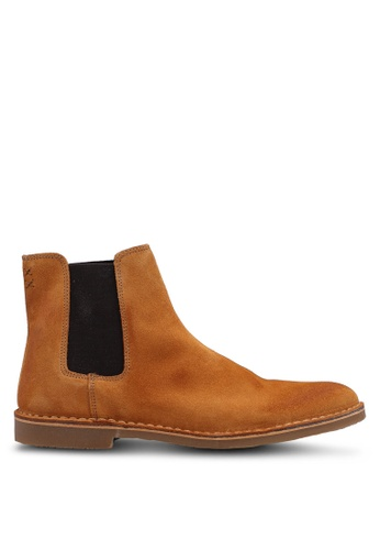 Selected Homme yellow Chelsea Suede Boot CF6D5SH4E2554EGS_1