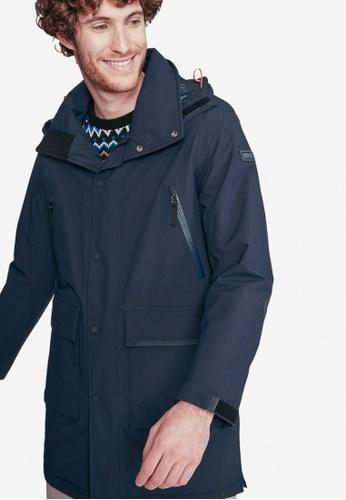 Aigle blue and navy Anditu Waterproof Jacket F9DEBAAABA4879GS_1