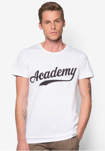 Acadzalora退貨emy 文字棉質TEE, 服飾, T恤