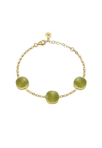 Morellato green Morellato Gemma Stering Silver 925 Cat Eye Gold PVD Ladies Bracelets SAKK63 2A0BAACA34A8E0GS_1